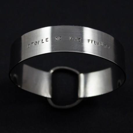 """Bracelet Ruban large """"Étoile de Vie Filante"""""""