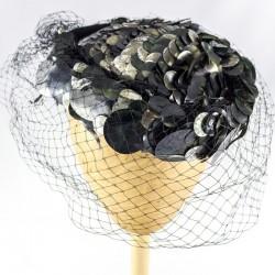 """Chapeau Bibi Voilette """"Astre Noir"""""""